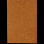 Brown Croc Print Vegetable Tan