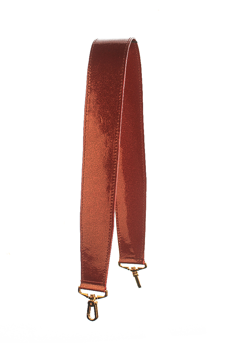 Leather Strap Wide with Gold Hardware Red Candy