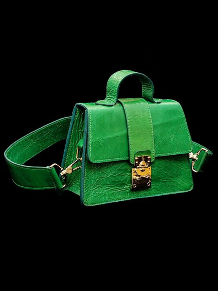Treasure Chest Leighton Green – Green Calfskin
