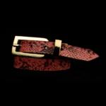 Pink Snakeskin Black Spots