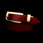 Dark Red Snakeskin Leather