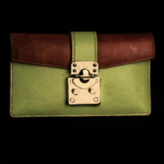 Green Apple Saffiano Long wallet