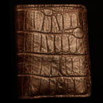 Brown Croc Print Wallet