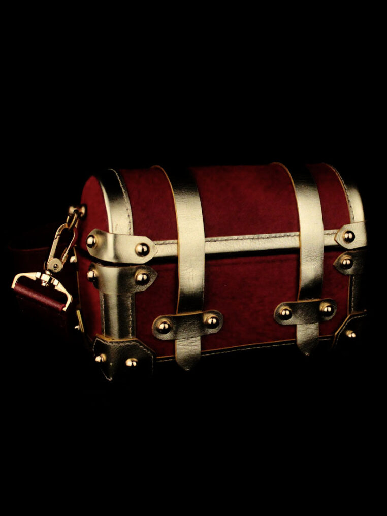 Chestbox Bag – Red Gold Pony Hair