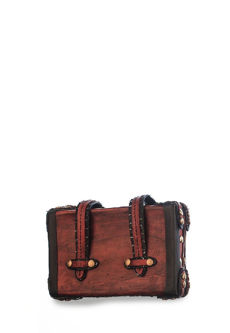 ASHER MINI VINTAGE BOX CLUTCH VEGETABLE TANNED