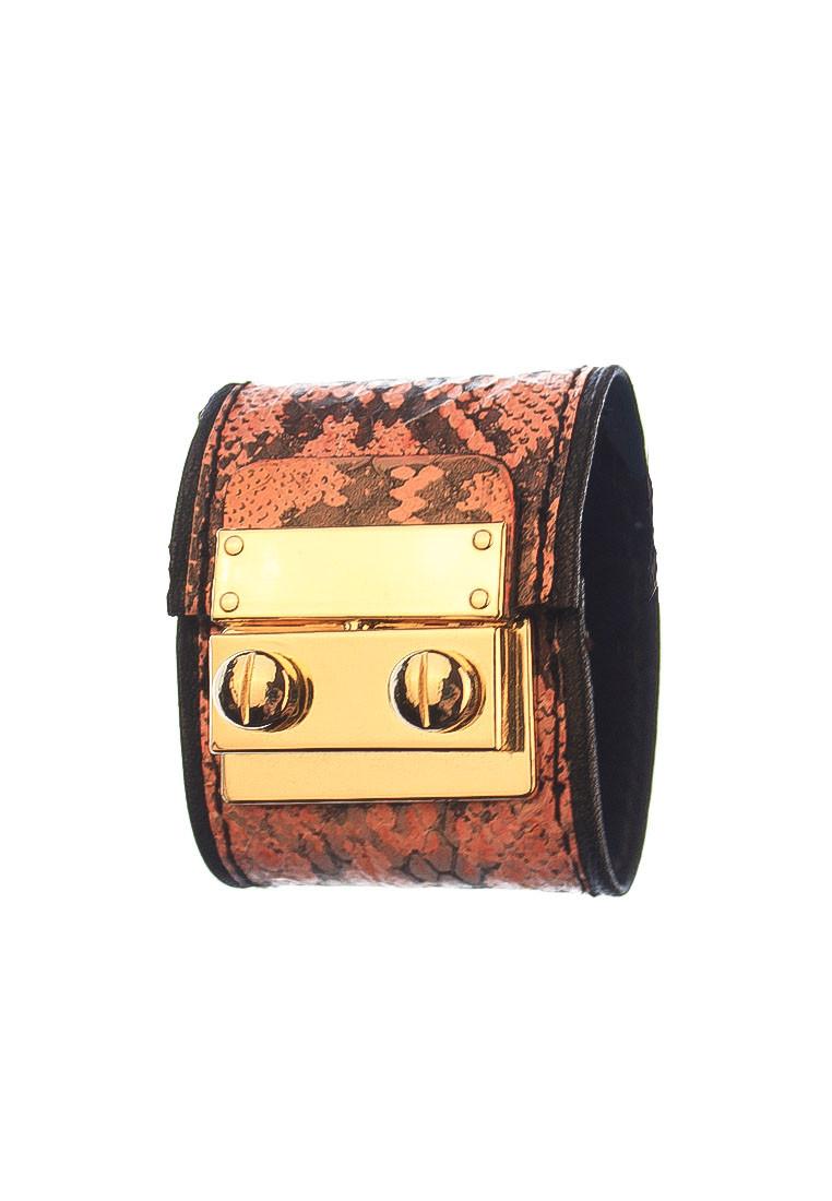 Snakeskin Leather Cuff rh131 1