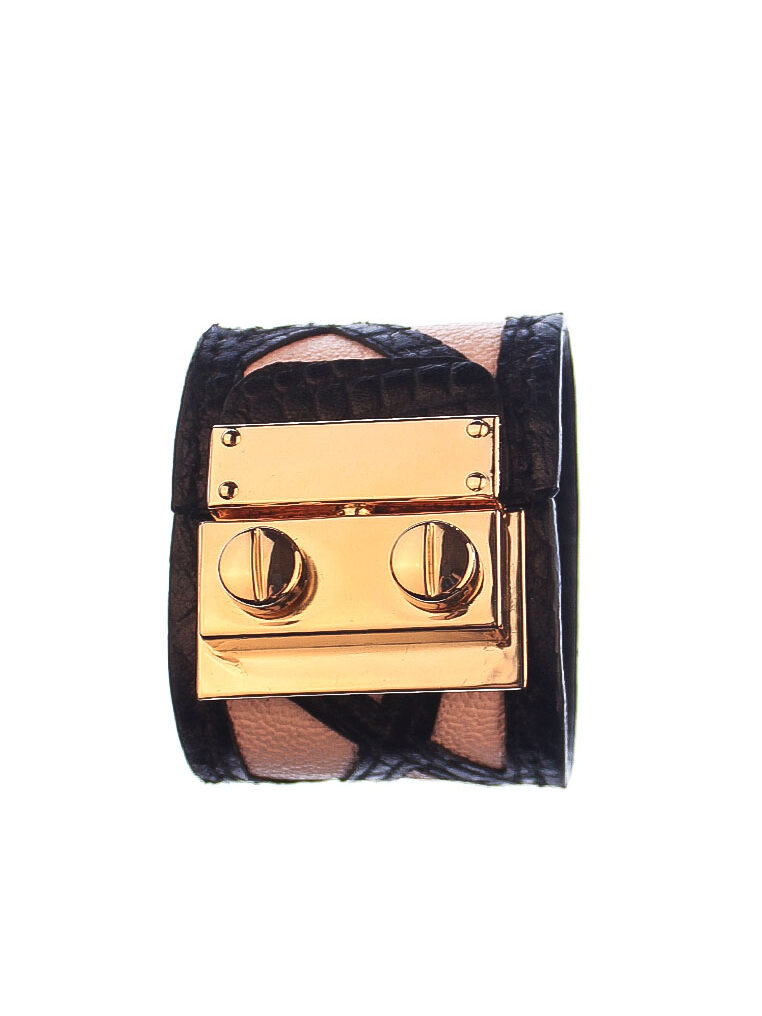 CSHEON Bracelet Leather Pink and Black rh139 1