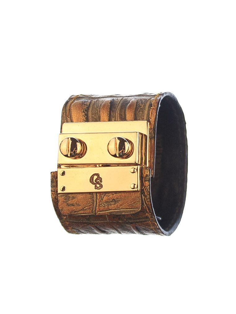 CSHEON Brown Croc Skin Bracelet Leather rh170 1