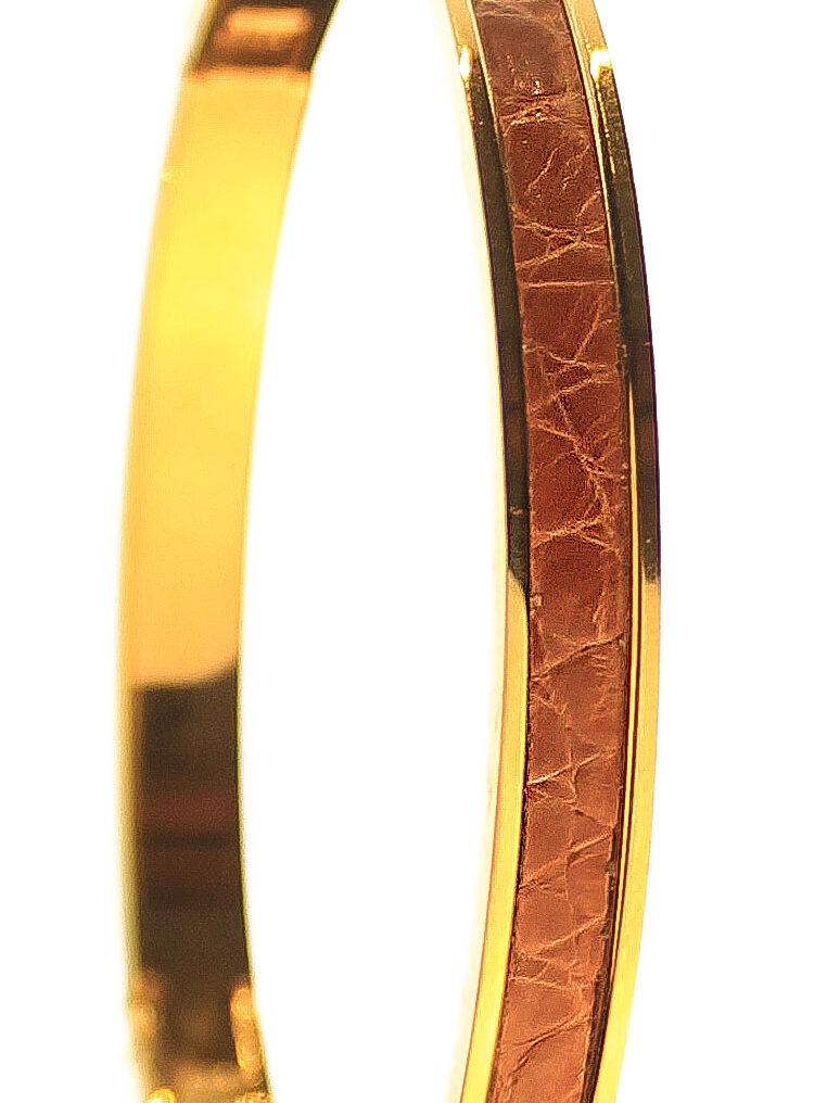 CSHEON Bangle Gold 14k Croc Skin