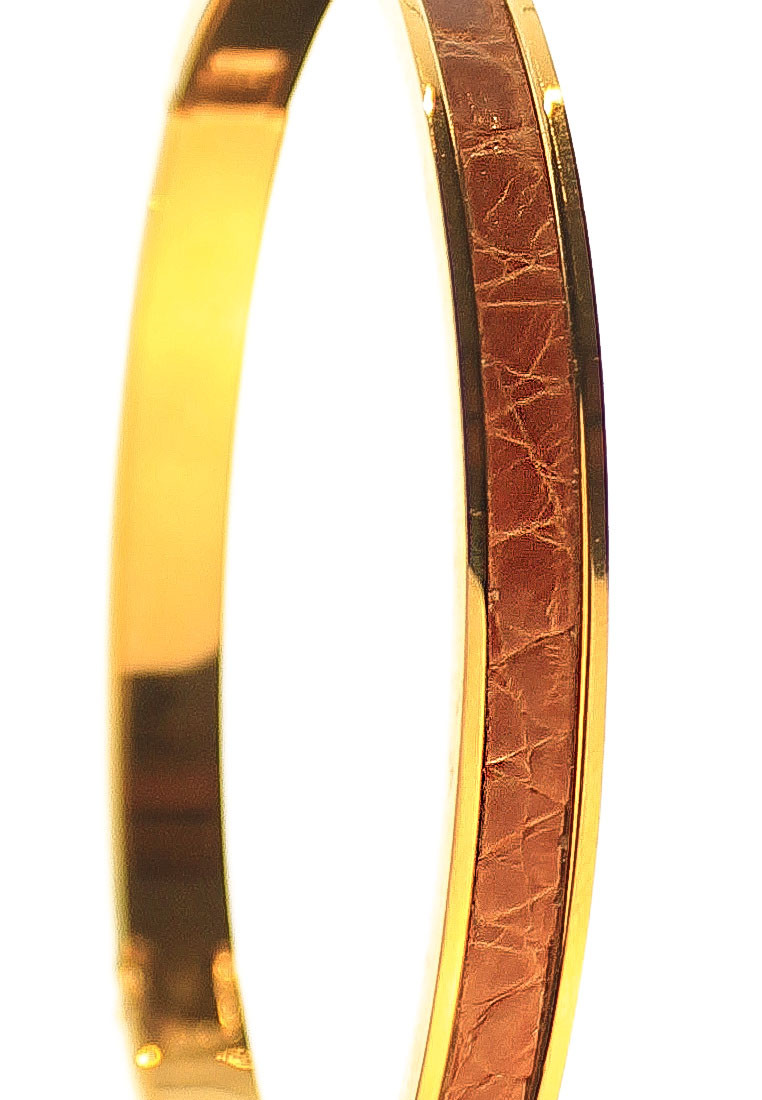 CSHEON Bangle Gold 14k Croc Skin