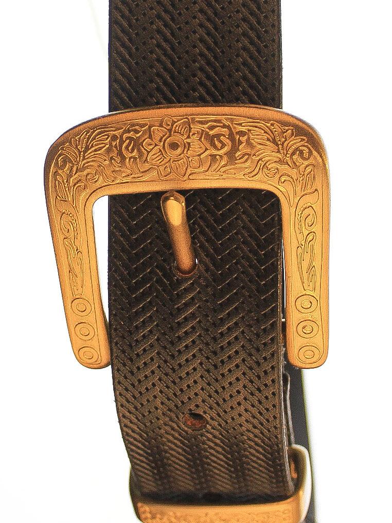 CSHEON Belt Gold Buckle Belt