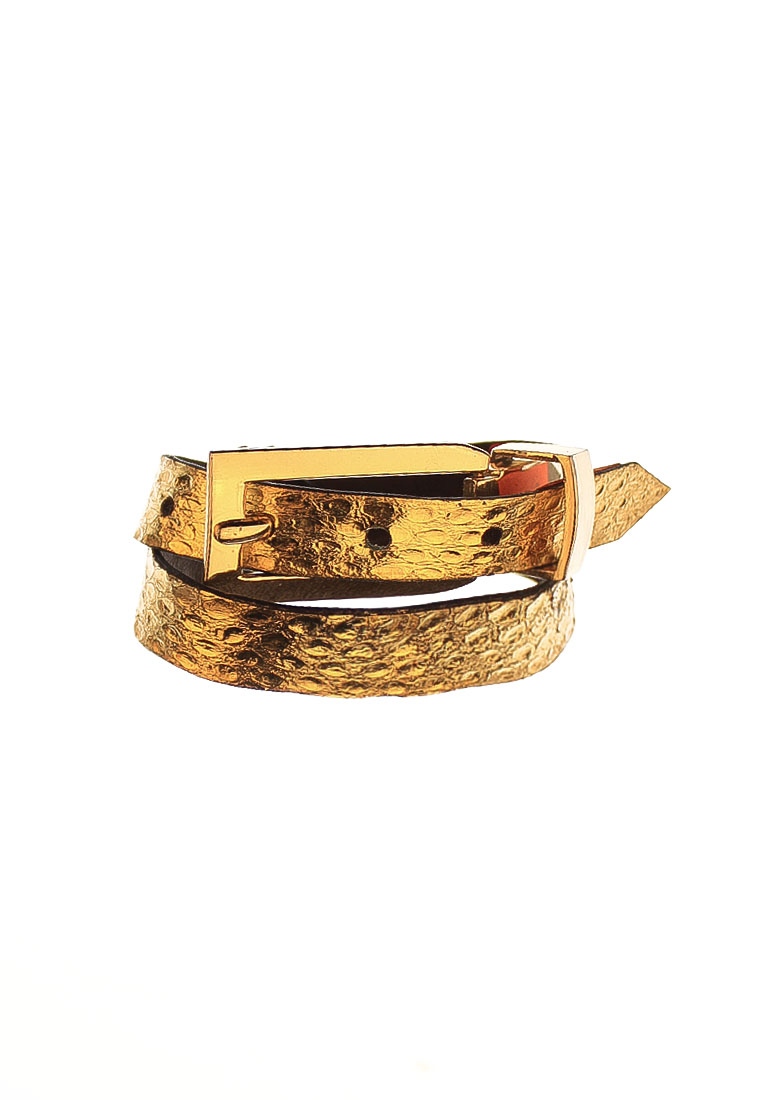 Exotic Gold Snakeskin Bracelet Cuff