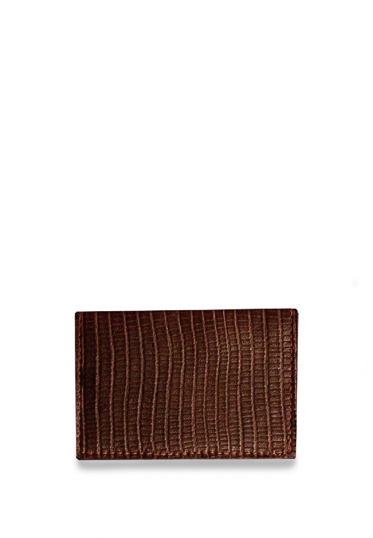 CSHEON Leather Custom Made 4card wallet brown
