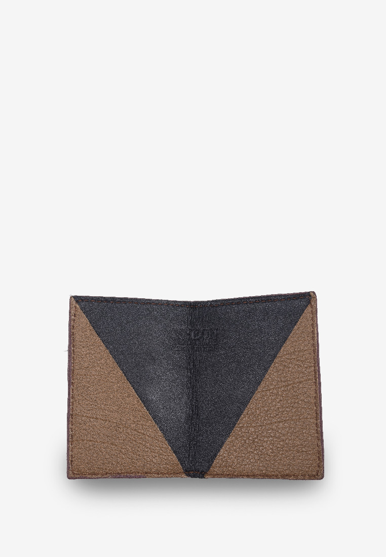 Minimal Card Holder Dark Brown Grain