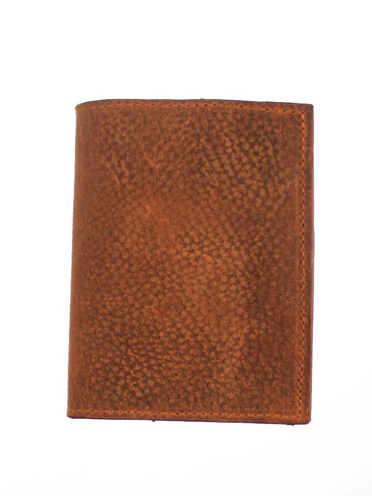 Vegetable Tanned Leather Passport Holder Brown CSHEON