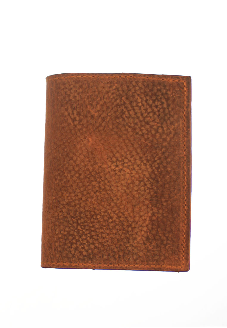 Vegetable Tanned Leather Passport Holder Brown CSHEON