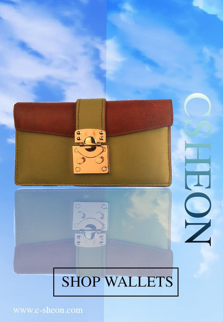 cat 2 CSHEON Leather Wallet Designer Custom Made