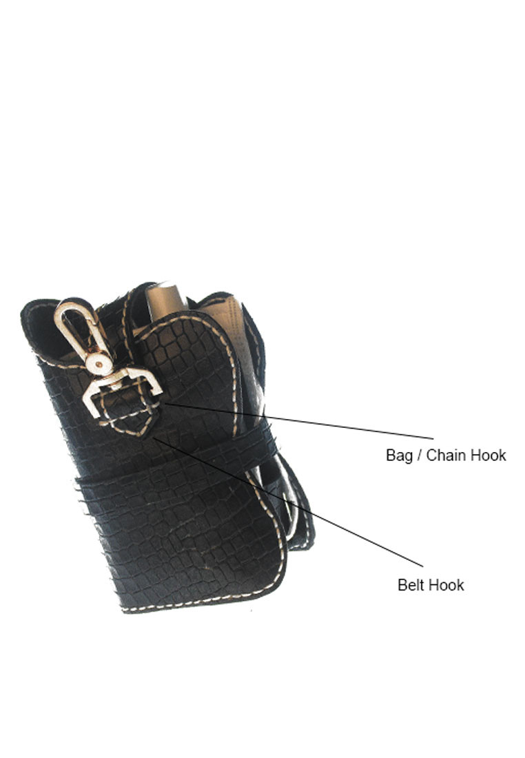staysafe black croc pouch back