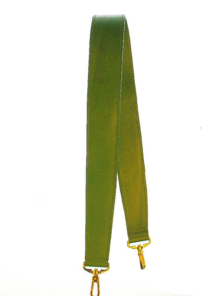 strap bag saffiano green