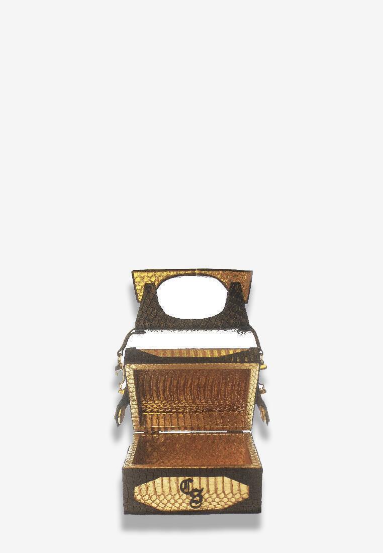 Gold Snakeskin Bag Mini
