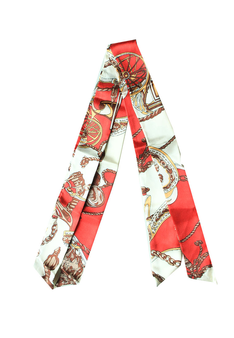 Red. Bag Scarf