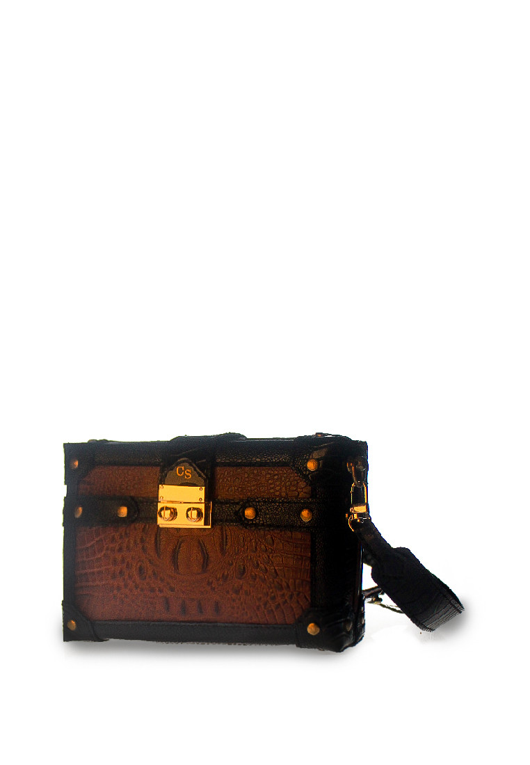 CSHEON boxbag croc brown copy