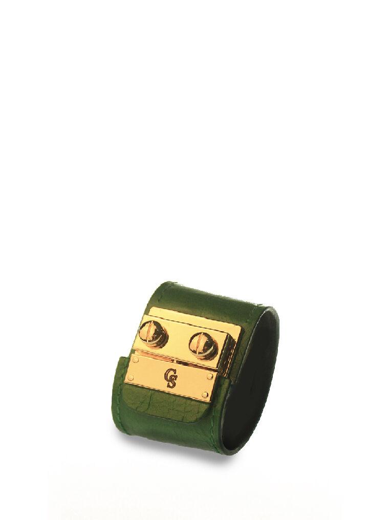 CSHEON Leather bracelet green 1
