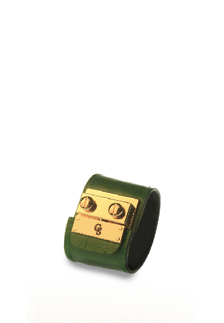 CSHEON Leather bracelet green 1