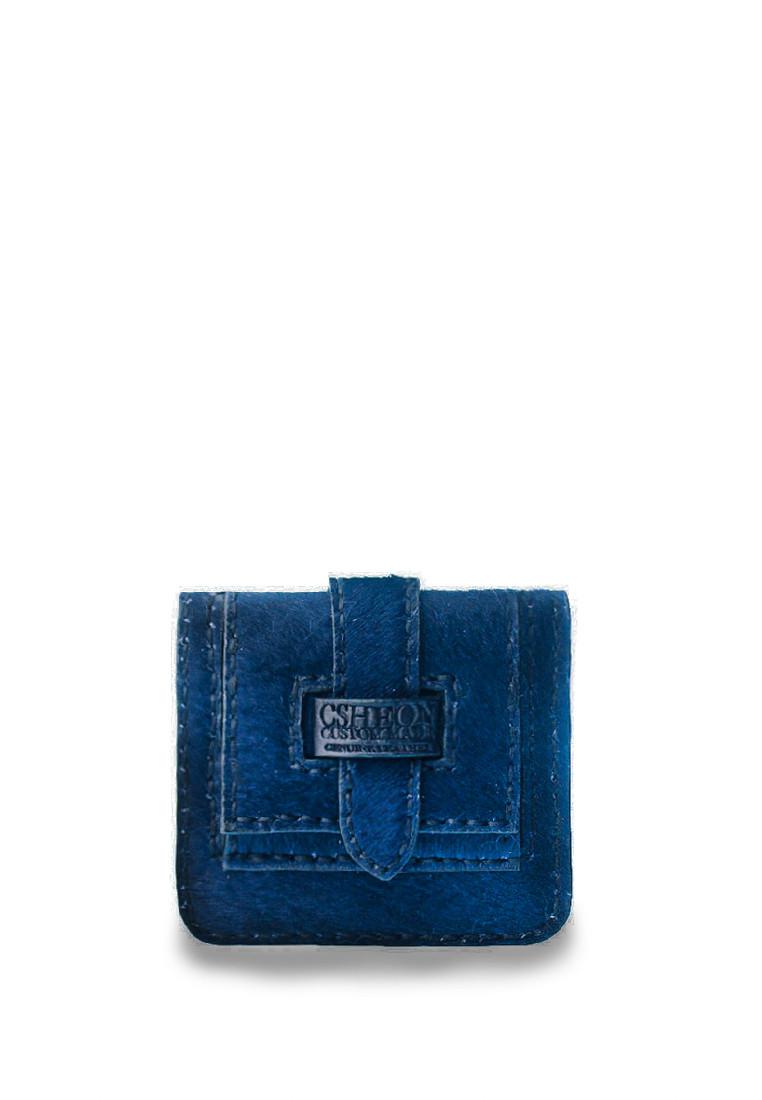 Blue Wallet Pony hair leather ellis01