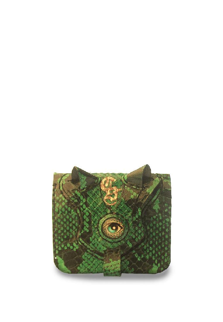 Green Snakeskin Wallet megane 1