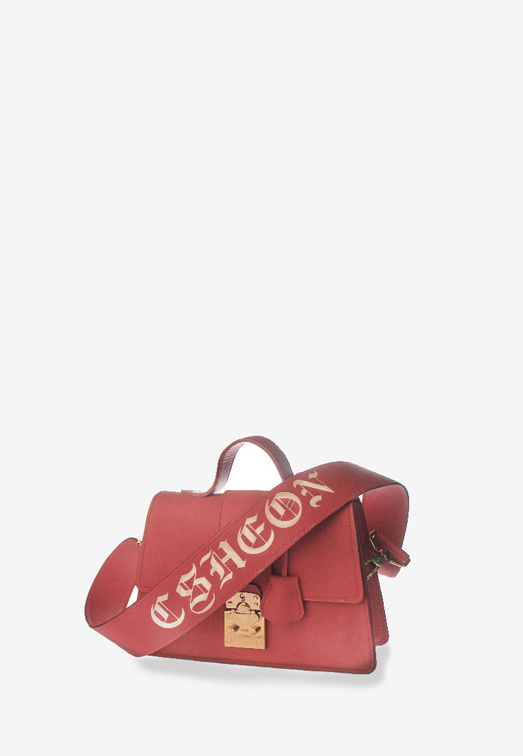 Leighton Bag Pink Candy Calfhide with Gothic Logo
