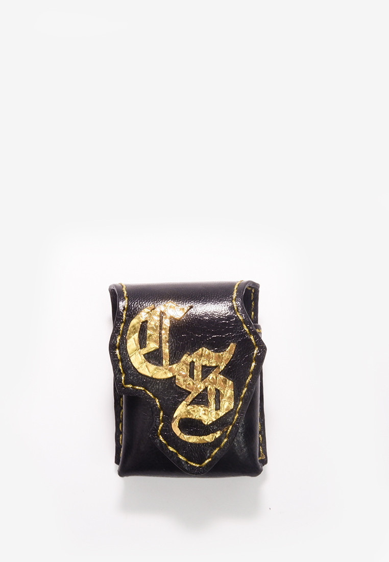 Dale Car Key Pouch with Monogram Cut Out Gold