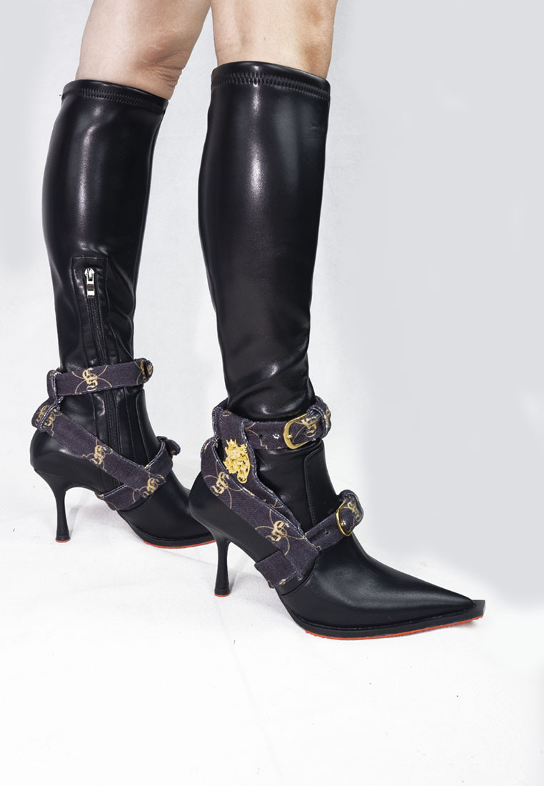 Hollywood High Cut Monogram Boots