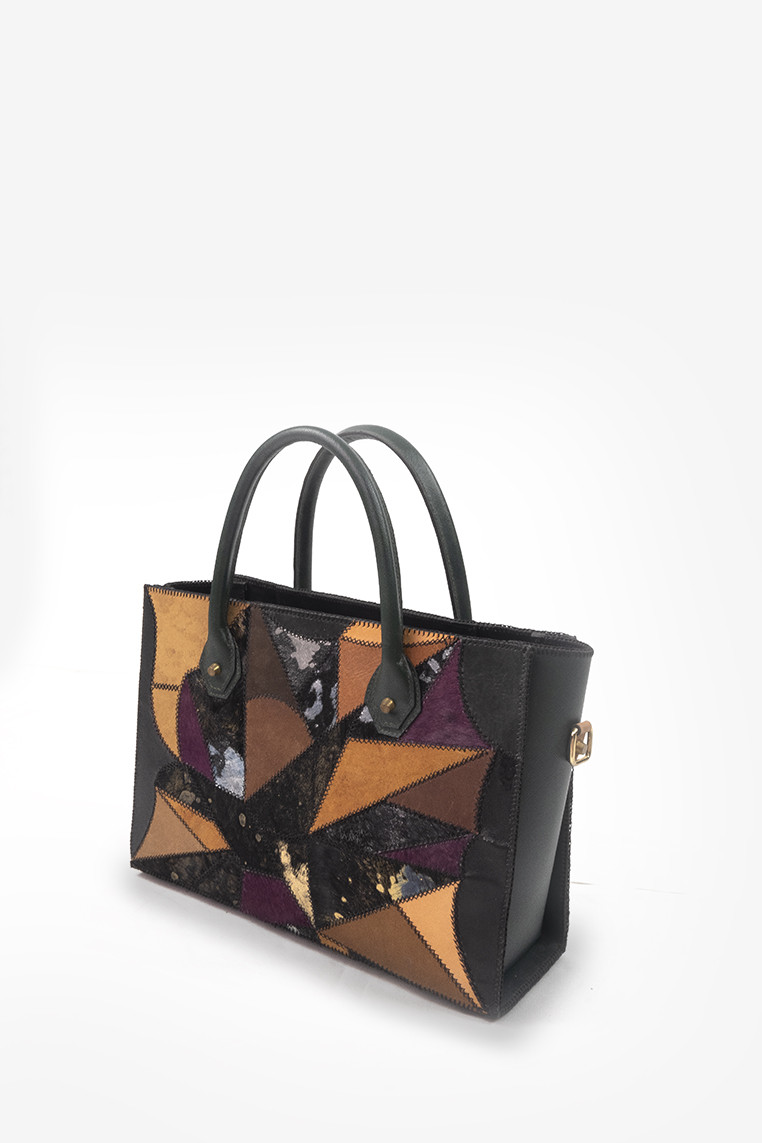 Artsy Patched Up Medium Size Tote Bag