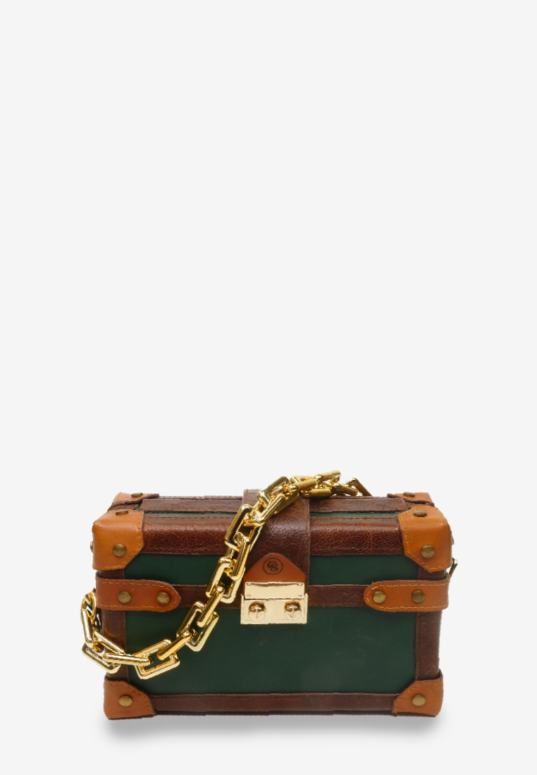 Box Bag CSHEON Leather Purse Trunk