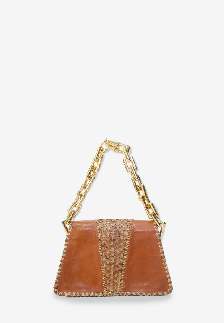 Maige Exotic Harper Bag with Gold Chain