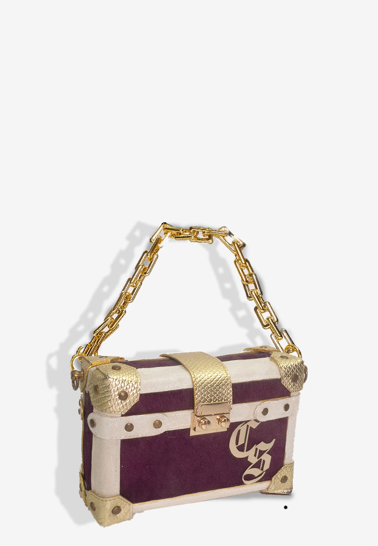 Trunk Bag Purple with Chain