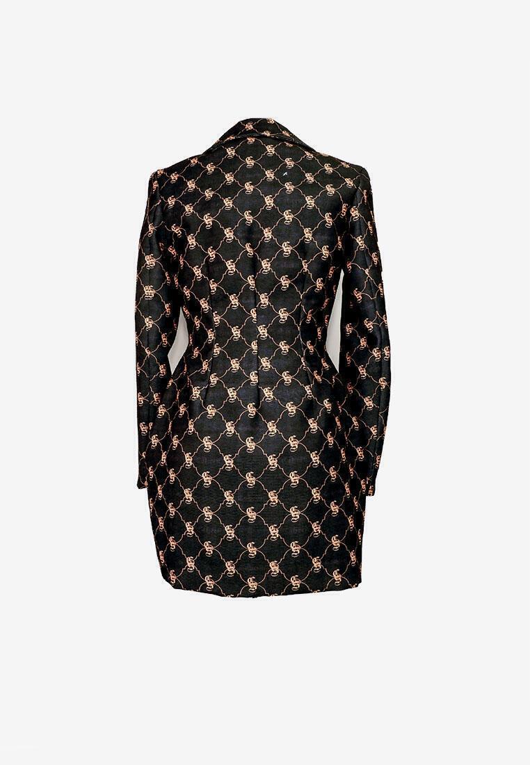 CSHEON MONOGRAM BOTTLE BLAZER DRESS