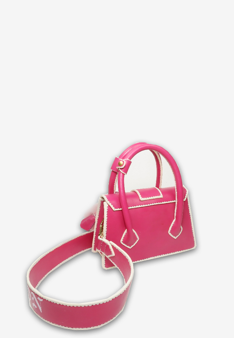 Pink Leighton New Edition with Gothic Logo Strap