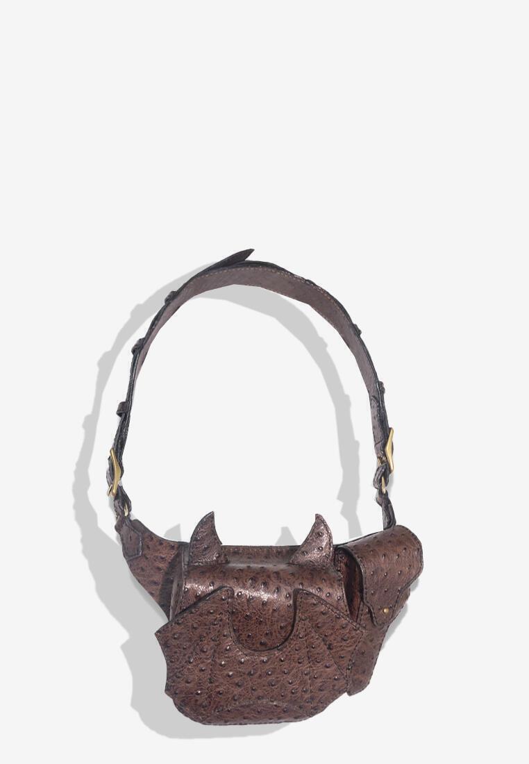 Akuma 2 Way Ostrich Leather Bag