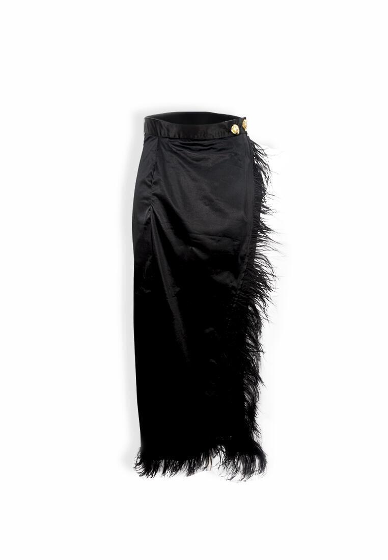 Lena Feather Top & Skirt Set