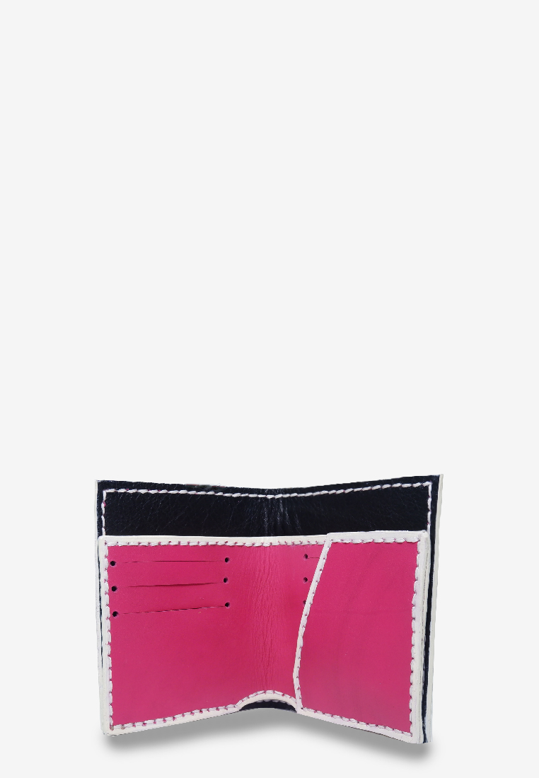 Gold Monogram Short Wallet Pink Leather