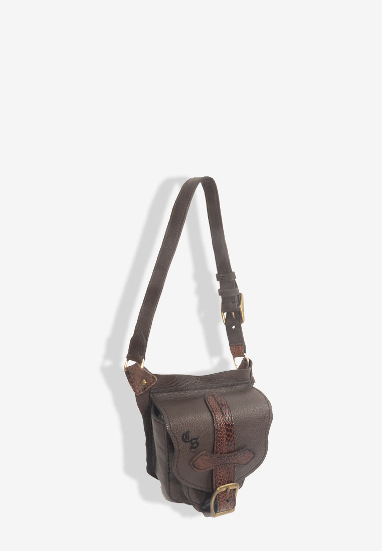Axel Fanny Pack Brown Red Leather