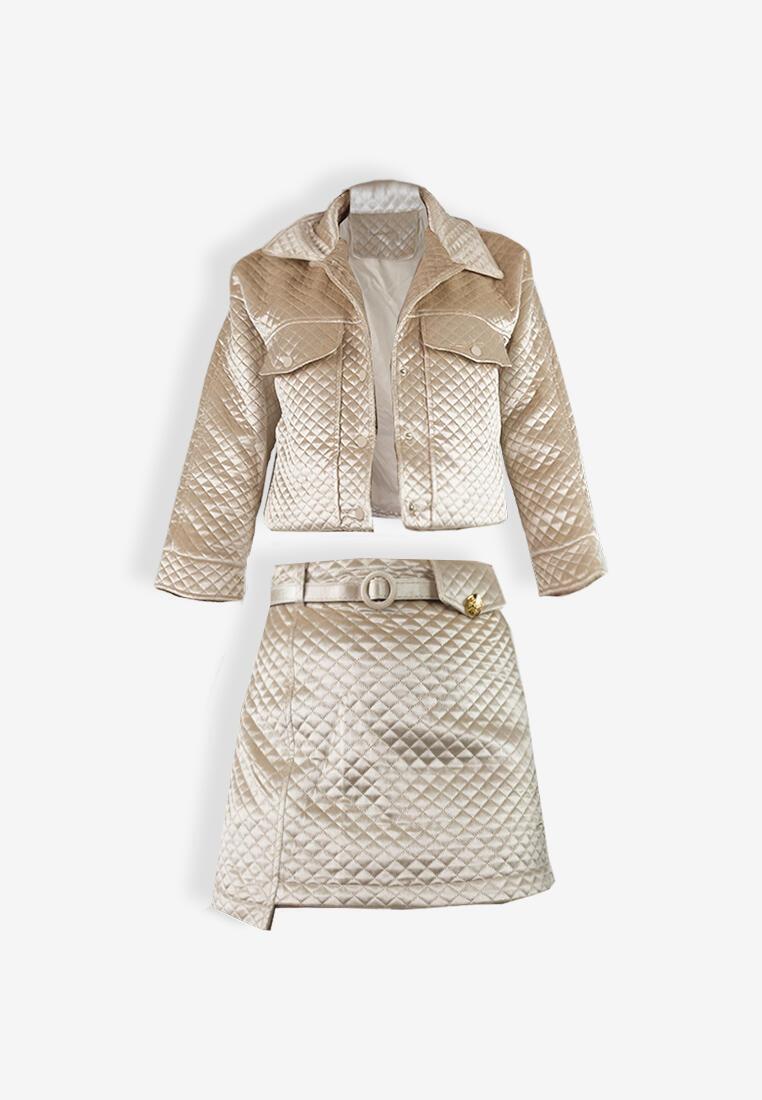 CSHEON Jacket Set Beige Velvet